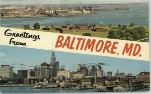 Greetings from Baltimore, MD., c. 1960s.