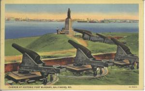 Fort McHenry Cannon, c. 1940
