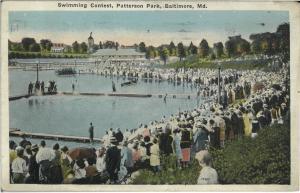 Swimming Contest, c. 1920s.