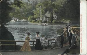 Boat Lake at Druid Hill Park, c. 1900