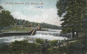 Gywnns Falls at Gwyn[n] Oak Park, 1909
