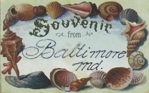 Drawn Seashell Postcard, c. 1910